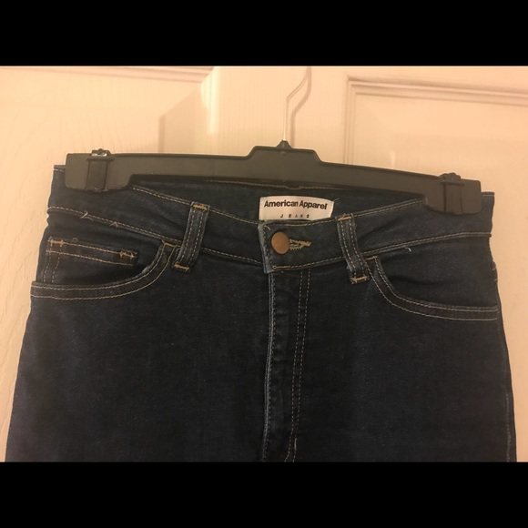 American Apparel Denim - American Apparel Jeans Dark Navy Blue
